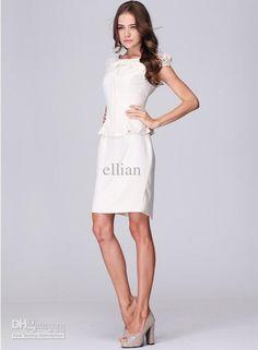 2013 fashion White elegant women dress work ware office lady dresses