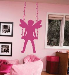 Fairy Swing Cute Girls Princess Room Wall Decor Decal