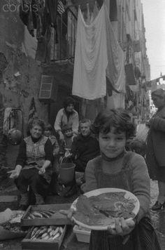 Girl Holding Fish in Naples - 1979   #TuscanyAgriturismoGiratola