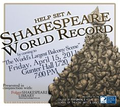 Shakespeare Set Free at UNC April  The University of Northern Colorado School of Theatre Arts and Dance Presents: SHAKESPEARE SET FREE Presented by Michael LoMonico from the Folger  The University of Northern Colorado School of Theatre Arts and Dance, in conjunction with Michael LoMonico from the Folger Shakespeare Library, presents several workshops and a special event to explore more of Shakespeare's brilliant language.  http://www.lomonico.com