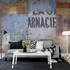 Steel Plates Wallpaper Mural