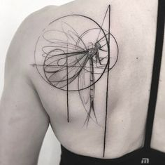 Sketch style dragonfly tattoo by Frank Carrilho