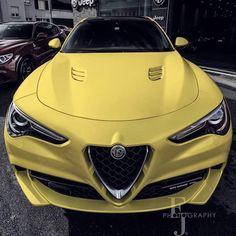 Pin by Michael Yeuri Nin Medina on Cars Maserati, Ferrari, Lamborghini, Alfa Romeo Brera, Alfa Alfa, Fiat Abarth, Yellow Car, Alfa Romeo Cars, Retro Cars