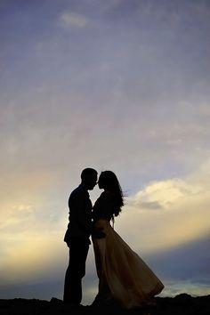 Engagement Photo - Phoenix Arizona Silhouette Shot