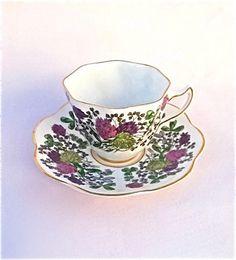~ Tea Cup and Saucer . China Cups And Saucers, Teapots And Cups, China Tea Cups, Vintage Dishes, Vintage Tea, Silver Tea Set, Fun Cup, My Cup Of Tea, Tea Cup Saucer