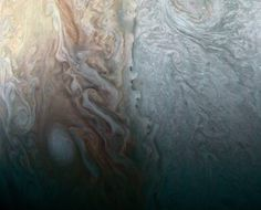 When Jovian Light and Dark Collide This image taken by the JunoCam imager on NASAs Juno spacecraft highlights a feature on Jupiter where multiple atmospheric conditions appear to collide. April 07 2017