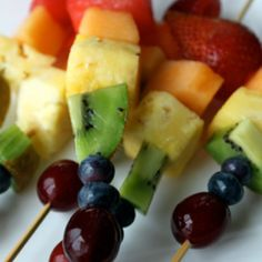 people still remember my all-blueberry skewers from the graduation party. Pop one in a glass of lemonade...complimentary colors or grape juice...tone on tone.