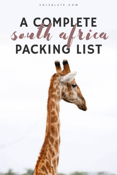 A Fool-Proof South Africa Packing List — Sol Salute