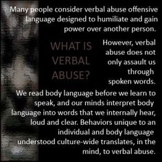 What is Verbal Abuse? How Do I Know When IT'S Happening? Examples Too