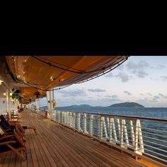 My favorite deck on the Disney cruise ship!!