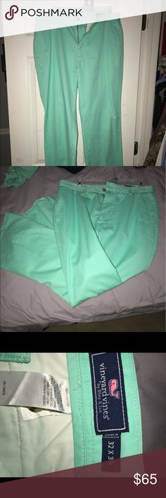 Vineyard Vine Mint Pants. Washed and worn only once!! 32x30 Vineyard Vines Pants Chinos & Khakis