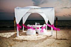 Beautiful romantic dinner set up on the beach!!