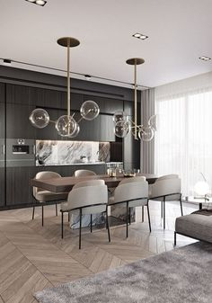 Beautiful And Affordable Dining Room Decoration Ideas, - Expolore the best and the special ideas about Dining room design Elegant Dining Room, Luxury Dining Room, Dining Room Lighting, Dining Room Design, Dining Room Modern, Modern Dining Room Chandeliers, Beige Dining Room, Contemporary Dining Room Furniture, Dining Room Lamps