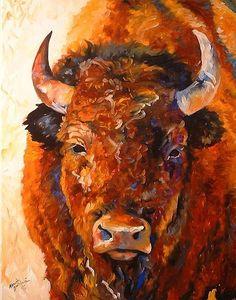 Southwest art   Art: SOUTHWEST BUFFALO by Artist Marcia Baldwin