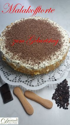Malakofftorte – simple confectioner recipe by Daninas Dad without baking - Cake Popular Birthdays, Pastry Recipes, Easy Cake Recipes, Easy Peasy, Step By Step Instructions, No Bake Cake, Birthday Cake, Simple, Ethnic Recipes