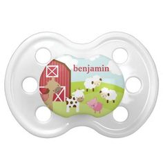 Cute Farm Animal Pacifier Baby Pacifier #pacifier #baby #personalized #binkie
