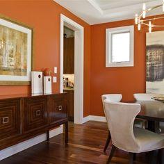 Orange walls.
