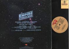"Back Album Cover Star Wars ""Empire Strikes Back"" The Adventures of Luke Skywalker RSO Records RS-1-3081"