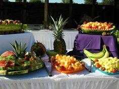 Luau Wedding Reception Food Keywords: #weddings #jevelweddingplanning Follow Us: www.jevelweddingplanning.com  www.facebook.com/jevelweddingplanning/