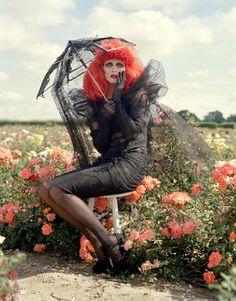 Harpaar's Bazaar: Tim Burton's Magical Fashion - In anticipation of his retrospective at New York's Museum of Modern Art, filmmaker Tim Burton reimagines the season's dark delights. Photographs by Tim Walker. (September, 2009)