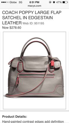 Coach leather bag Coach Handbags 3fb6962a5b