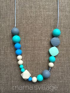 Silicone Teething Necklace / Silicone Nursing by MamasVillage