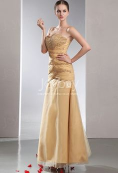 Beaded Sequin Sweetheart Tulle and Satin Mermaid Evening Gown £144