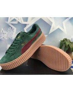 4b979ebbb39fb6 Puma Rihanna X Suede Creepers Casual Shoes Army Green