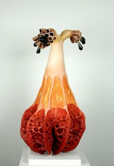 Organic Sculpture, Shape And Form, Clay, Lights, Ceramics, Shapes, Orange, Photography, Painting