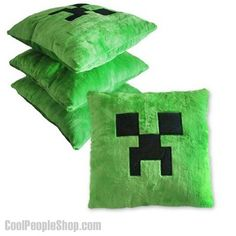 $21.99 Minecraft Creeper Green Pillow Cushion   Cool People Shop-