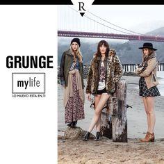 ¡ #Grunge is back! Mezcla tus prints favoritos: animal, cuadrados y flores. Complementa tu look con una chompa anudada a la cintura o un abrigo oversize. ¡Anímate a crear tu propia identidad! Conoce más en www.mylife.com.pe #Tendencias #MeFascinaRipley