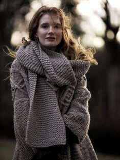 "♥ the simple garter st scarf.  Both patterns can be found in Rowan's ""Purelife Autumn"" book"