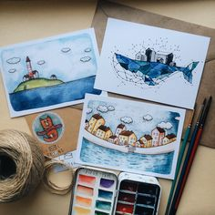 Postcards with my illustrations