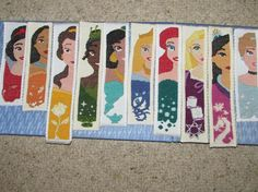 Looking for your next project? You're going to love Disney Princesses Cross Stitch bookmarks by designer DreamingIce.