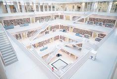 Stuttgart Municipal Library, Stuttgart, Germany  So German. So very German.