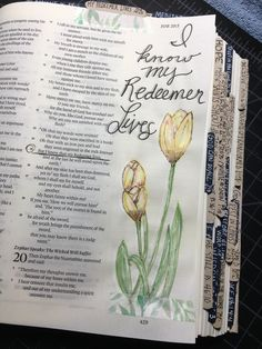 Job 19:25 I know that my redeemer lives.