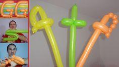 balloon sword - How to make a Balloon Sword Balloon Sword, Balloon Hat, Balloon Crafts, One Balloon, Balloon Shapes, Balloon Arch, Easy Balloon Animals, Ballon Animals, Donut Decorations