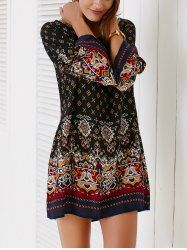 SHARE & Get it FREE   Ethnic Style Bell Sleeve Tribal Print Shift Dress For WomenFor Fashion Lovers only:80,000+ Items • New Arrivals Daily • Affordable Casual to Chic for Every Occasion Join Sammydress: Get YOUR $50 NOW!