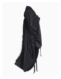 Black coat with arrange