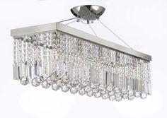 """Swarovski Crystal Trimmed Chandelier! 10 Light 40"""" Contemporary Crystal #Gallery #Contemporary"""
