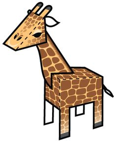 Giraffe Paper Foldable: www.paperfoldables.com/animals.html