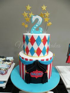 Rachels Cakes and Bakes Carnival Themed Birthday Cake Food