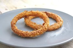 Recipes Under 400 • Baked Onion Rings 3/4 cup crushed corn flakes...