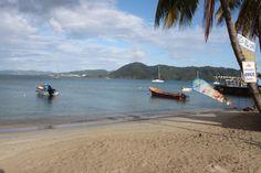 Plage du marin au sud de la Martinique.
