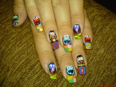 Really good muppet nails.   muppets+1.jpg 720×540 pixels