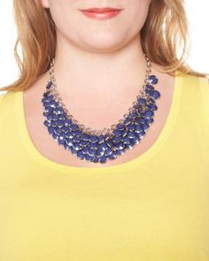 Multi-row bead necklace $16.00