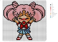 Sailor Chibi Moon Pattern by H3LLoK66aren99