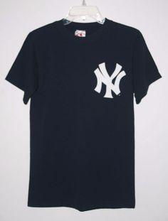 Majestic New York Yankees Derek Jeter T Shirt Small Navy Blue S #Majestic #NewYorkYankees #DerekJeter