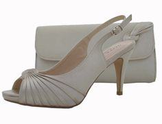 Champagne Evening Shoes and matching clutch bag