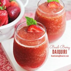 Basil Berry Daiquiri Recipe - Home Cooking Memories & ZipList